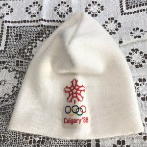 Vintage 1988 Calgary Canada Olympic Games hat beanie touque